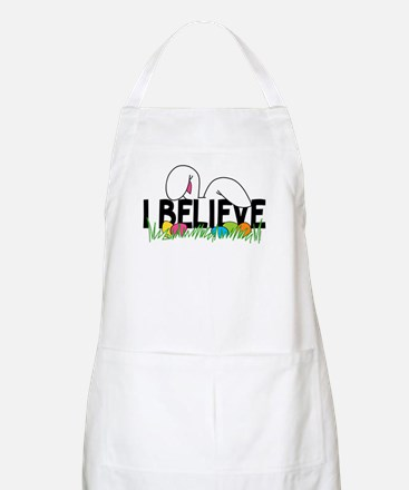 Believe In The Easter Bunny Apron