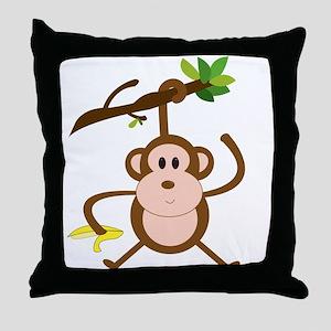Monkeying Around Throw Pillow