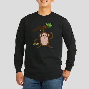 Monkeying Around Long Sleeve Dark T-Shirt