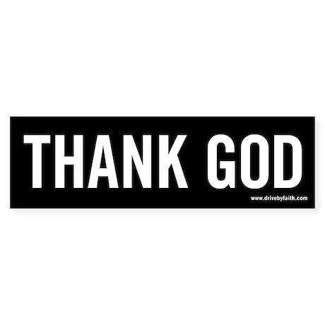 Thank God Bumper Sticker