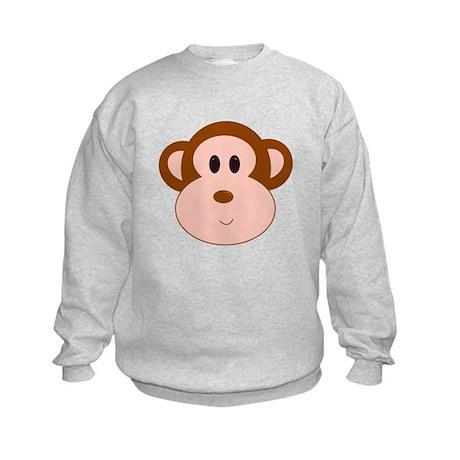 Monkey Portrait Kids Sweatshirt