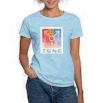 Tcne Women's Blue Crew Neck T-Shirt