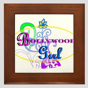 Bollywood Girl! - multi-color Framed Tile