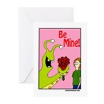 Alien Slug Valentine Greeting Cards (Pk of 10)
