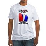 PROUD MEMBER OF THE ANGRY MOB Fitted T-Shirt
