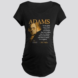 John Adams Maternity Dark T-Shirt