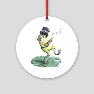 Dancin' Frog (round) Round Ornament