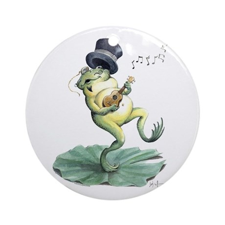 Dancin' Frog Ornament (Round)