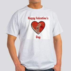 Happy Valentine's Day (chi) Ash Grey T-Shirt
