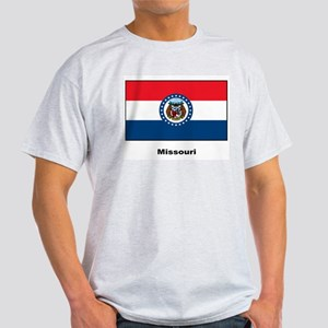 Missouri State Flag (Front) Ash Grey T-Shirt