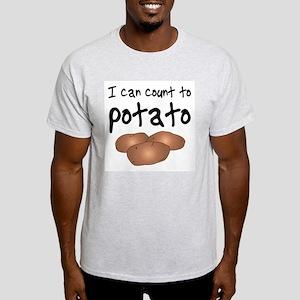 I Can Count to Potato, Ash Grey T-Shirt