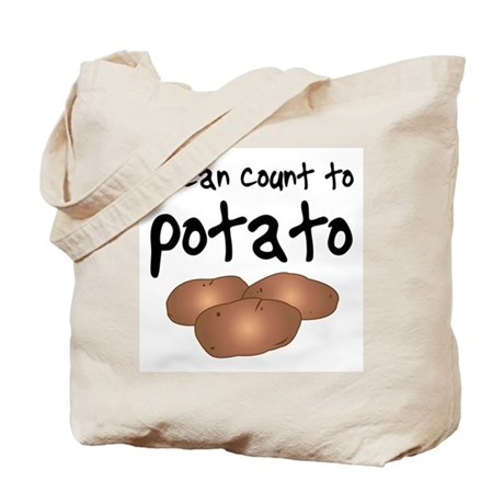 I Can Count to Potato, Tote Bag