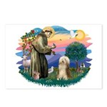 St. Fran. & Bearded Collie Postcards (Package of 8