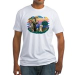 St. Fran. & Bearded Collie Fitted T-Shirt