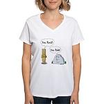 You Rock, You Rule Women's V-Neck T-Shirt