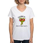 Funny Marocka Women's V-Neck T-Shirt