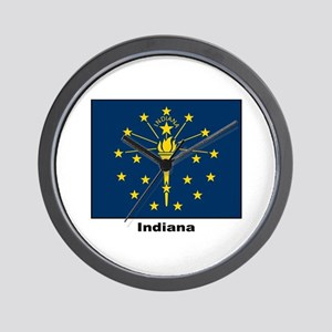 Indiana State Flag Wall Clock