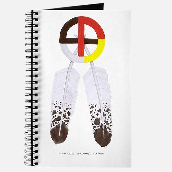 Medicine Wheel w/ Feathers Journal