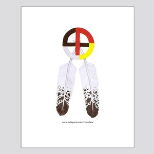 Medicine Wheel w/ Feathers Small Poster