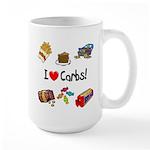 I Love Carbs Large Mug