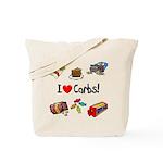 I Love Carbs Tote Bag