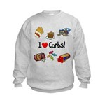 I Love Carbs Kids Sweatshirt