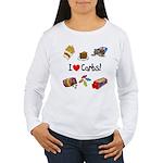 I Love Carbs Women's Long Sleeve T-Shirt