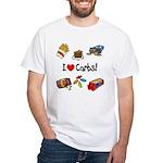 I Love Carbs White T-Shirt