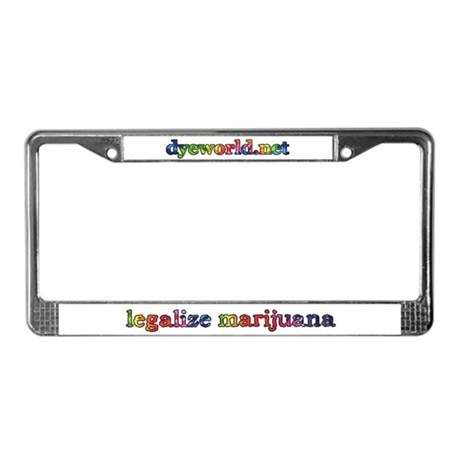 Legalize Marijuana License Plate Frame