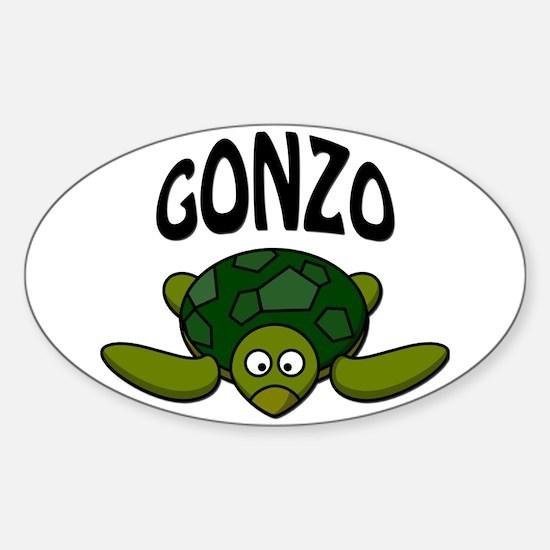 Gonzo Sticker (Oval)
