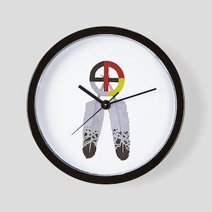 Medicine Wheel w/ Feathers Wall Clock