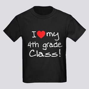 4th Grade Class: Kids Dark T-Shirt