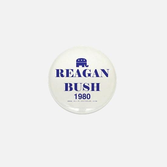 Reagan Bush 1980 Mini Button