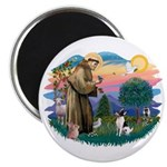 St Francis #2/ Toy Fox Ter. Magnet