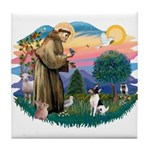 St Francis #2/ Toy Fox Ter. Tile Coaster