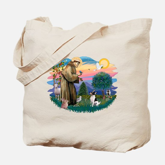 St Francis #2/ Toy Fox Ter. Tote Bag