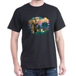 St Francis #2/ Toy Fox Ter. Dark T-Shirt