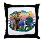 St Francis #2/ Siberian H #1 Throw Pillow