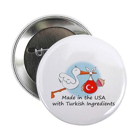 """Stork Baby Turkey USA 2.25"""" Button"""