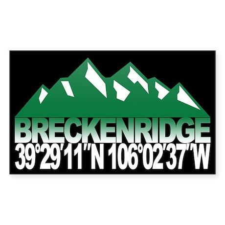 Breckenridge Colorado Sticker (Rectangle)
