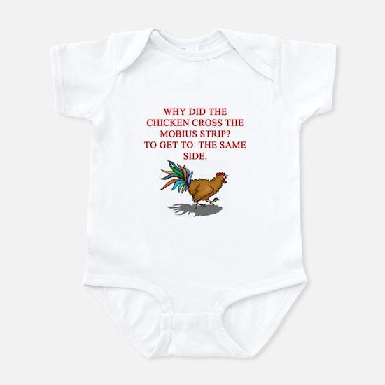 funny mobius strip humor Infant Bodysuit
