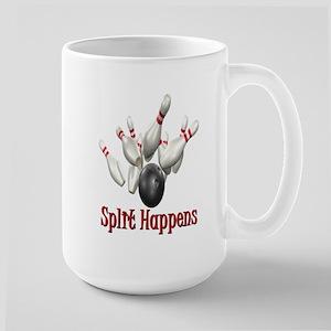 Split Happens Bowling Large Mug
