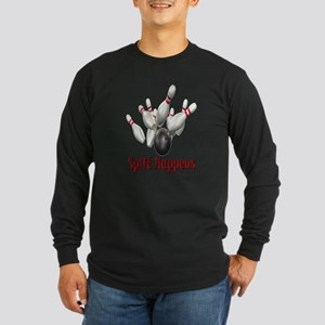 Split Happens Bowling Long Sleeve Dark T-Shirt