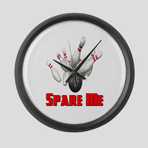 Spare Me Bowling Large Wall Clock