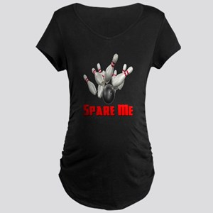 Spare Me Bowling Maternity Dark T-Shirt