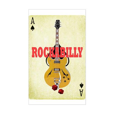 Rock-A-Billy Sticker (Rectangle)