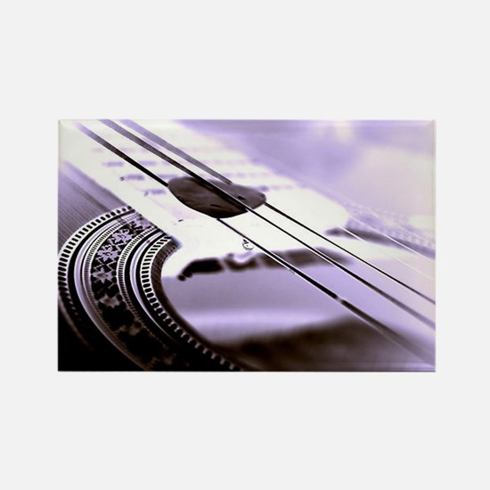 While My Guitar Gently Weeps Rectangle Magnet