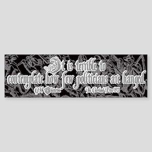 GK Chesterton on Politicians Sticker (Bumper)