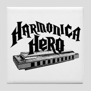 Harmonica Hero Tile Coaster