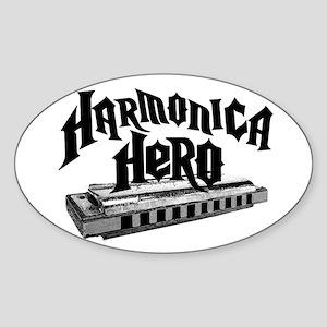 Harmonica Hero Sticker (Oval)